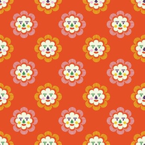 folk art sun | orange