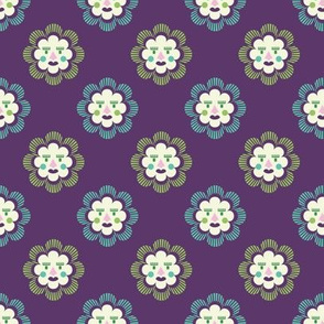 folk art sun | purple