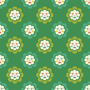 folk art sun | green
