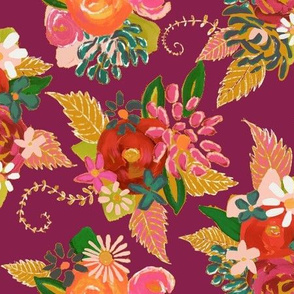 Autumn Floral // Raspberry