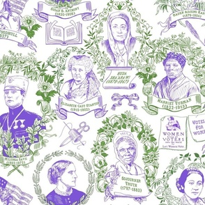 Sisterhood Toile Purple & Green