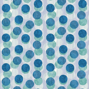 Lilac and Blue Striped Dots