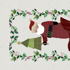 TeaTowel  - Folk Art Christmas