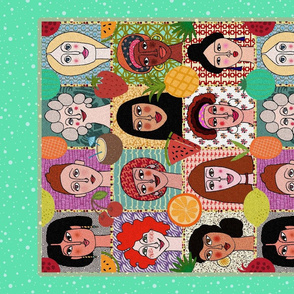 The Colors of Women (aaqua tea towel)