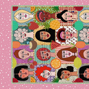 The Colors of Women (pink tea towel)