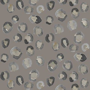 leopard print watercolor grey