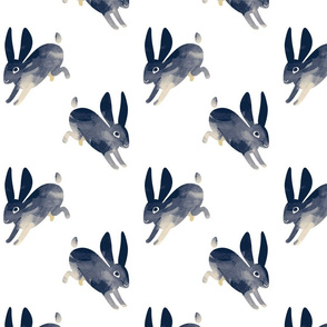 Shibori Rabbit white small