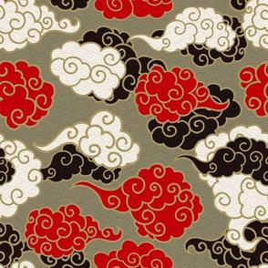 Golden Asian Clouds