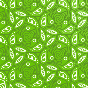 Green Leaves -  abstract pattern