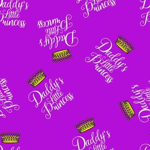 daddy's little princess on purple