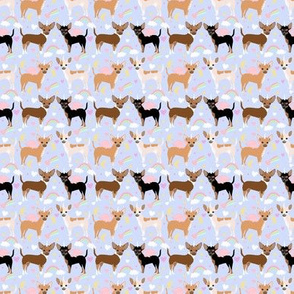 TINY - chihuahua dogs pastel unicorn fabric dogs and unicorns design - pastel