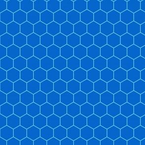 Hexagons - Blues