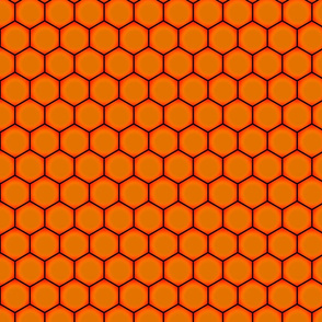 Hexagons - Black Fire (Large Scale)