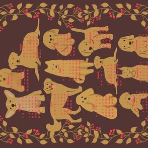 2020 calendar dogs in folk tale style
