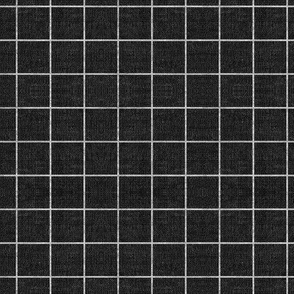 FRENCH LINEN GRID BLACK SMALL