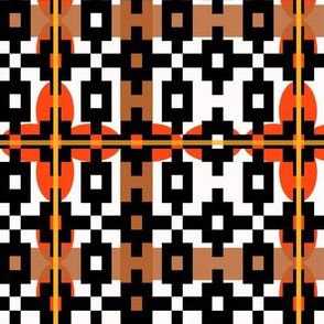 Tiki Plaid-Orange
