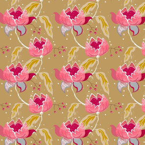 Vintage Floral on coffee small