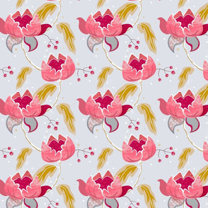 Vintage Floral on grey small