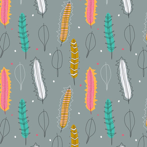 50's Banksia Leaves grey