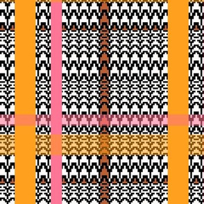 Retro Plaid-orange and pink