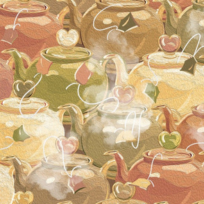 Tea Love | Large | Muted Earthy Colors