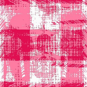 modern plaid texture hot pink and white tif
