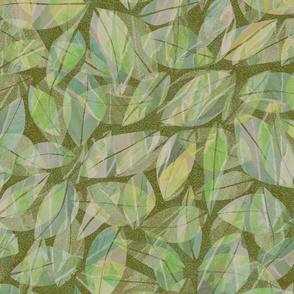 Tropical Abstract Leaves Laulau 300