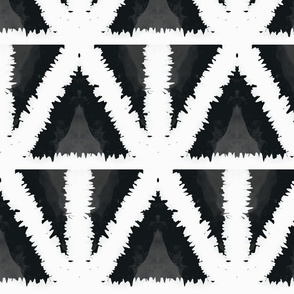 Distort 2/ Abstract Geometric- Black & White