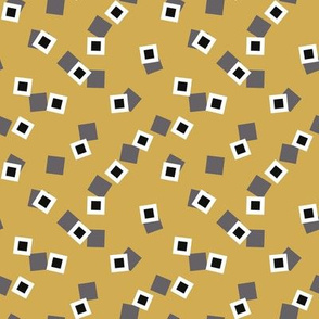 squares on yellow