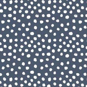 painted dots - nursery dots - sfx3928 indigo - dots fabric, painted dots, dots wallpaper, painted dots wallpaper - baby, nursery
