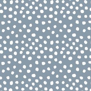 painted dots - nursery dots - sfx4013 denim - dots fabric, painted dots, dots wallpaper, painted dots wallpaper - baby, nursery