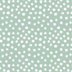 painted dots - nursery dots - sfx6009 seaglass - dots fabric, painted dots, dots wallpaper, painted dots wallpaper - baby, nursery