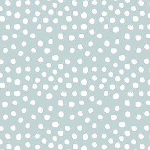 painted dots - nursery dots - sfx4405 mist - dots fabric, painted dots, dots wallpaper, painted dots wallpaper - baby, nursery