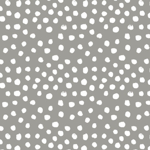 painted dots - nursery dots - sfx5803 fog - dots fabric, painted dots, dots wallpaper, painted dots wallpaper - baby, nursery