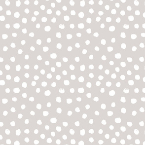 painted dots - nursery dots - sfx0002 white sand - dots fabric, painted dots, dots wallpaper, painted dots wallpaper - baby, nursery