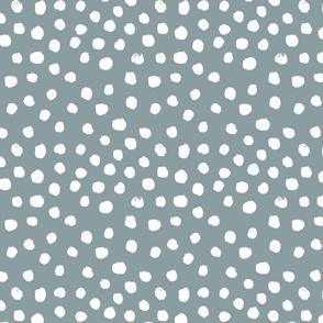 painted dots - nursery dots - sfx4408 slate - dots fabric, painted dots, dots wallpaper, painted dots wallpaper - baby, nursery