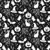Halloween party Fabric black & white