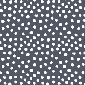 painted dots - nursery dots - sfx3919 night - dots fabric, painted dots, dots wallpaper, painted dots wallpaper - baby, nursery