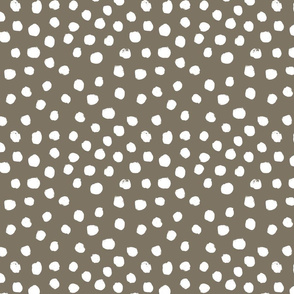 painted dots - nursery dots - sfx1110 fossil - dots fabric, painted dots, dots wallpaper, painted dots wallpaper - baby, nursery