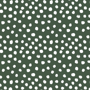 painted dots - nursery dots - sfx0315 hunter - dots fabric, painted dots, dots wallpaper, painted dots wallpaper - baby, nursery