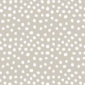painted dots - nursery dots - sfx5304  oat - dots fabric, painted dots, dots wallpaper, painted dots wallpaper - baby, nursery