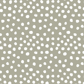 painted dots - nursery dots - sfx0110 sage - dots fabric, painted dots, dots wallpaper, painted dots wallpaper - baby, nursery