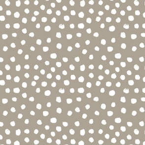 painted dots - nursery dots - sfx0906 taupe - dots fabric, painted dots, dots wallpaper, painted dots wallpaper - baby, nursery