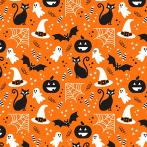 Halloween party Fabric orange