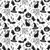 Halloween party Fabric white & black