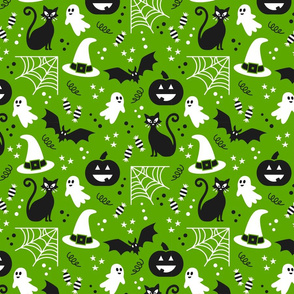 Halloween party Fabric green