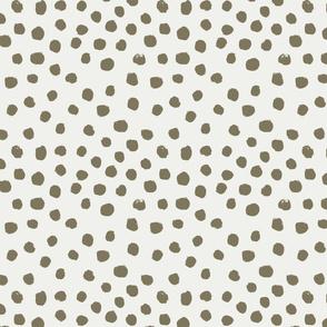 painted dots - nursery dots - sfx0620 aloe - dots fabric, painted dots, dots wallpaper, painted dots wallpaper - baby, nursery