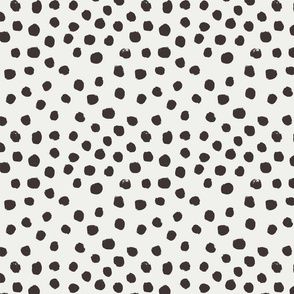 painted dots - nursery dots - sfx1111 coffee - dots fabric, painted dots, dots wallpaper, painted dots wallpaper - baby, nursery