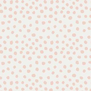 painted dots - nursery dots - sfx1404 blush - dots fabric, painted dots, dots wallpaper, painted dots wallpaper - baby, nursery