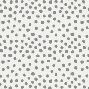 painted dots - nursery dots - sfx1501 dove - dots fabric, painted dots, dots wallpaper, painted dots wallpaper - baby, nursery